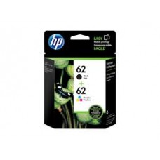 HP 62 (Yield: 200 Black/165 Colour Pages) Black/Cyan/Magenta/Yellow Ink Cartridge Pack of 2